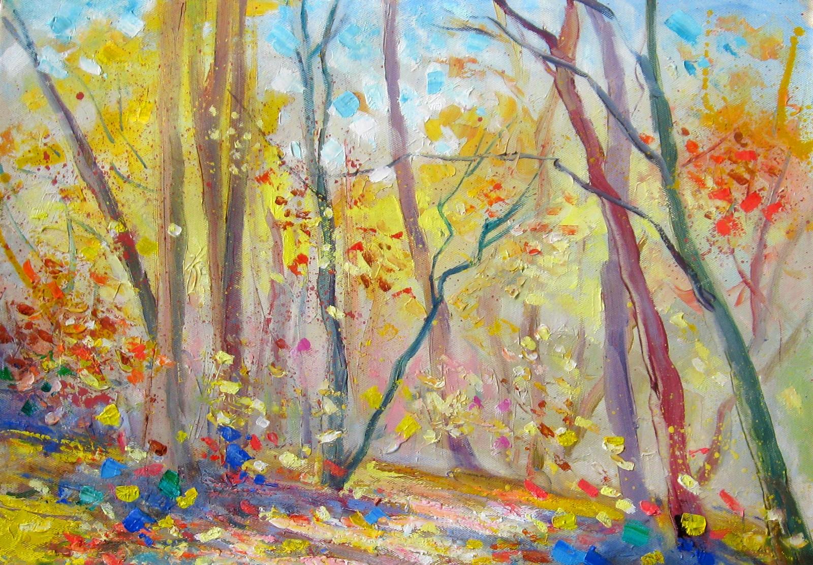 Las w październiku