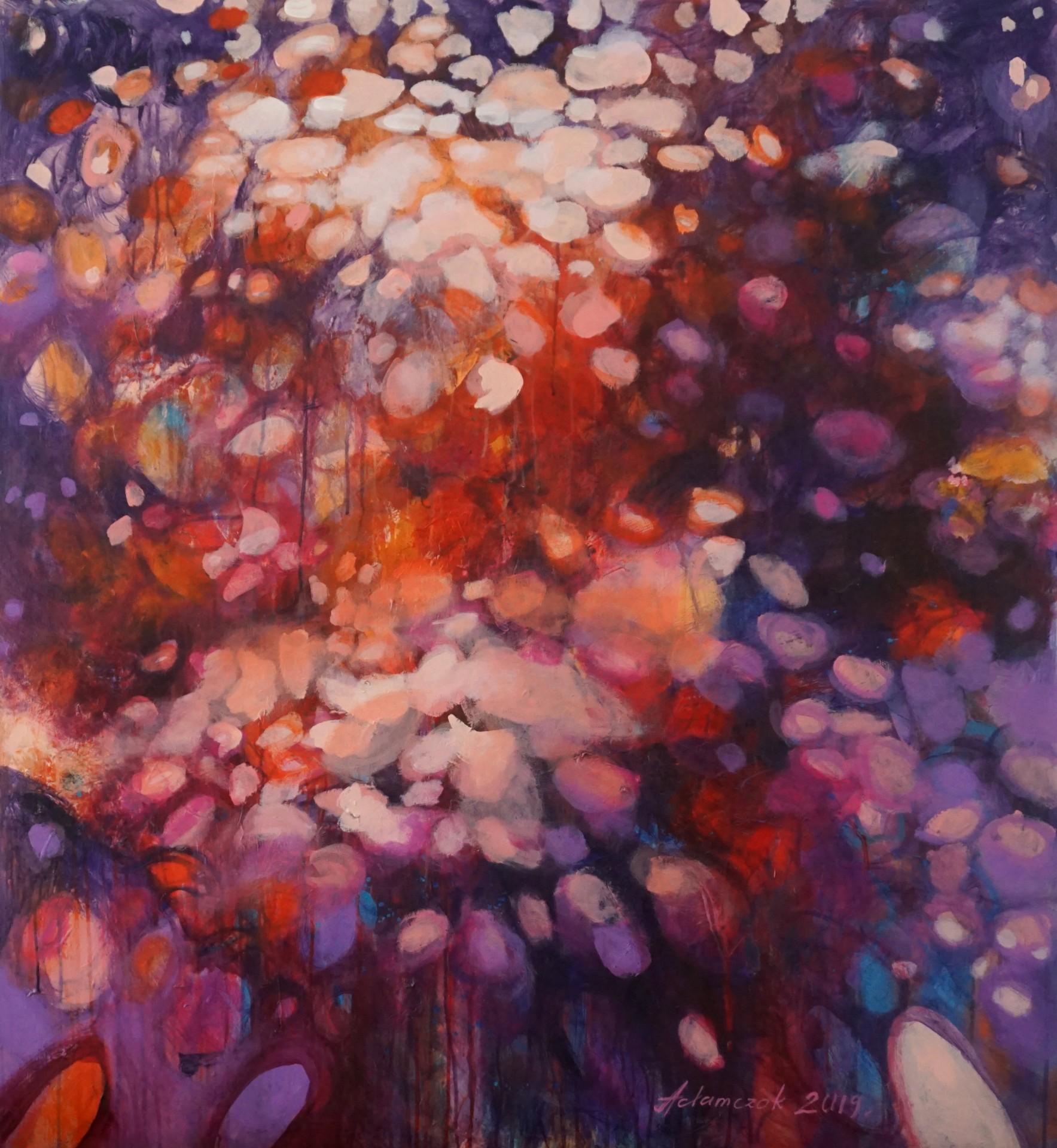 Początek jesieni - 120 x 110 cm