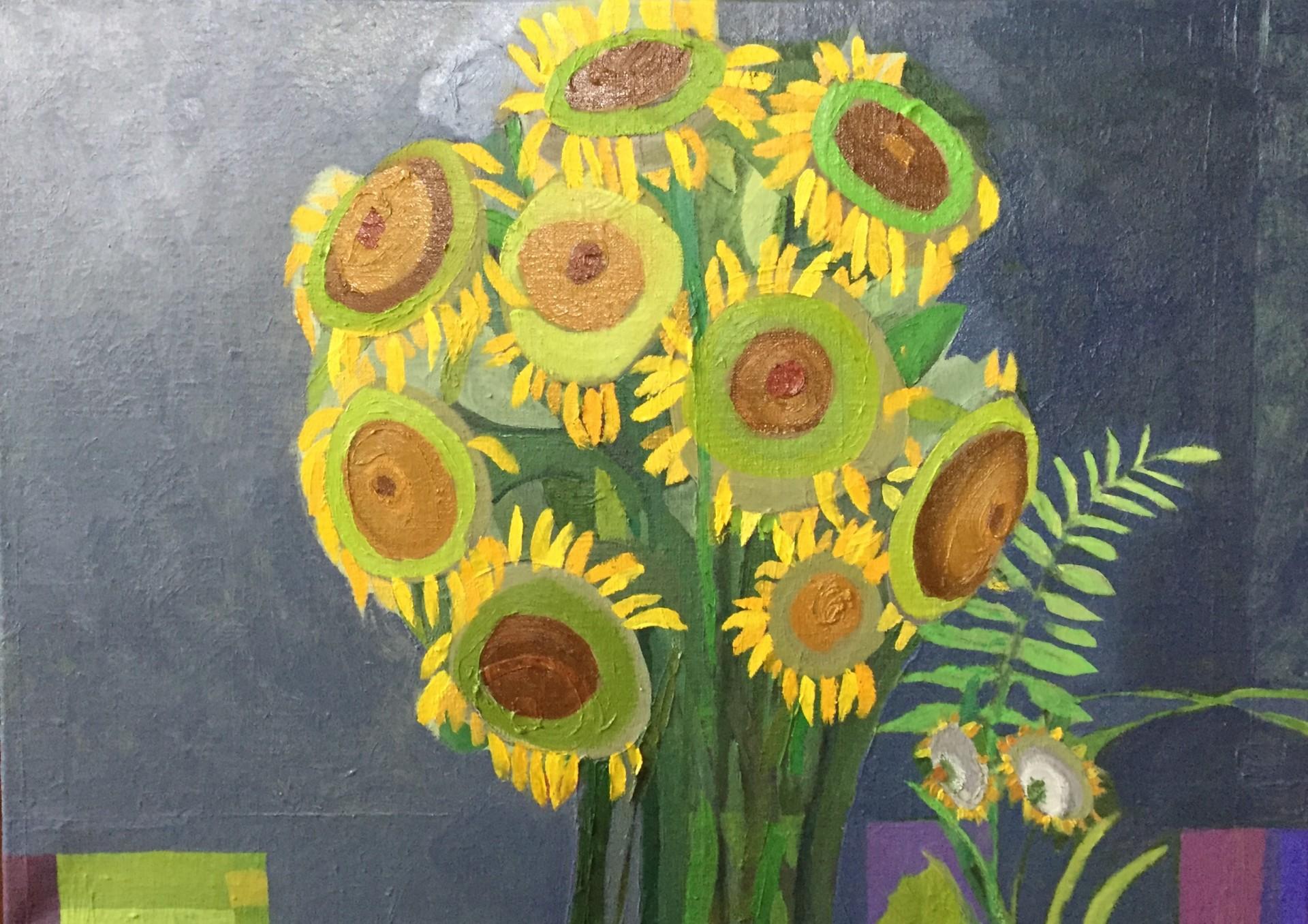 Słoneczniki przed burzą