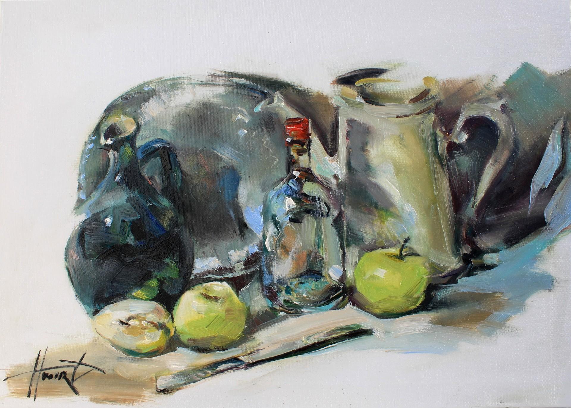 Martwa natura z jabłkami