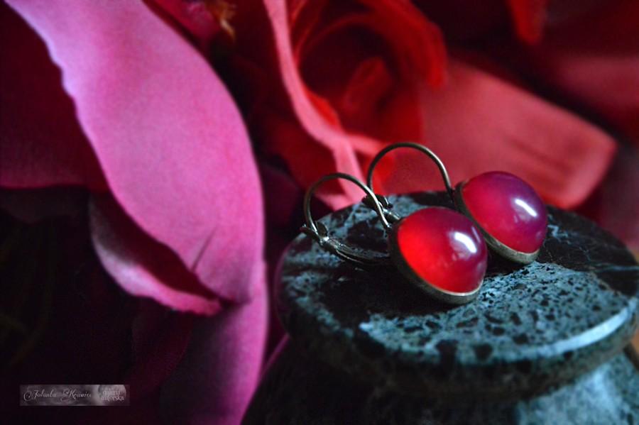 Agat brazylijski czerwony Kolczyki z kolekcji vintage