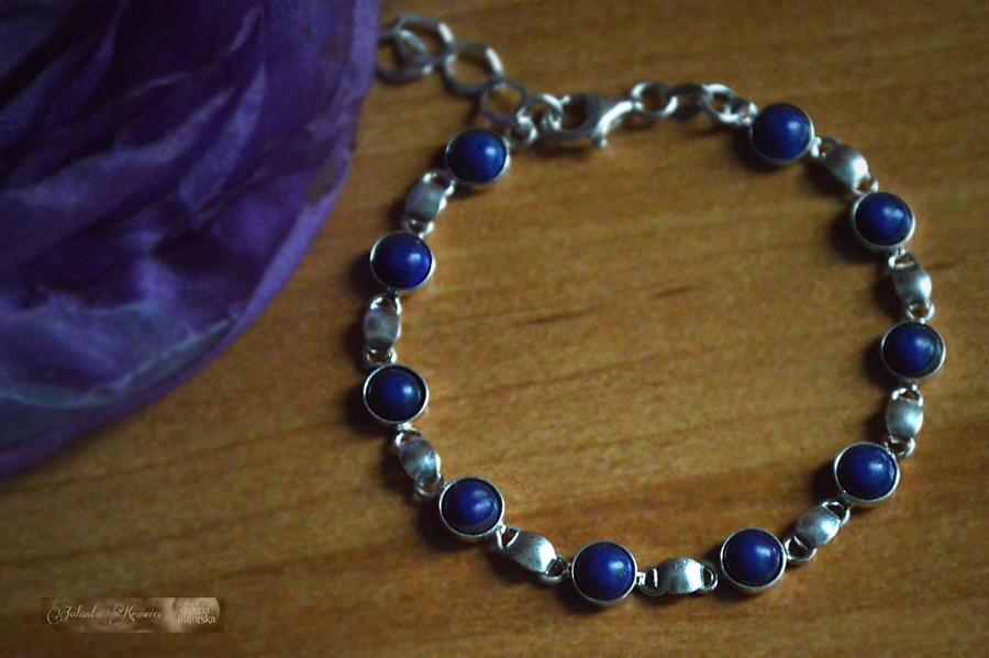 Lapis Lazuli z Chile  Bransoletka Kolekcja baśniowa Srebro 925