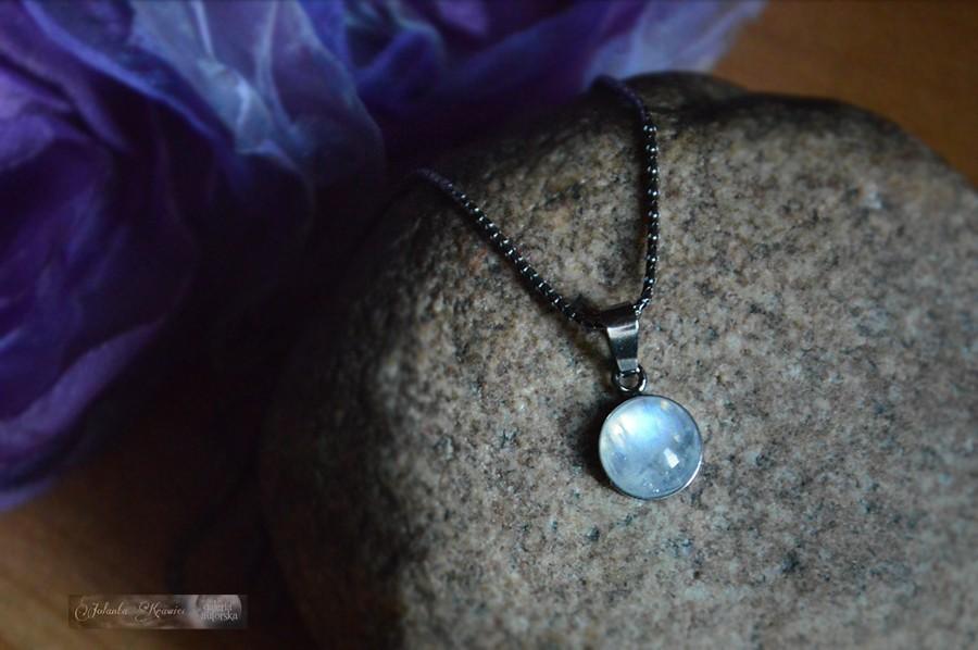 Kamień Księżycowy adularowy Kolekcja baśniowa Wisiorek Srebro 925 oksyda