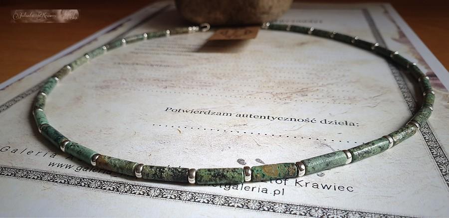 Turkus afrykański  Naszyjnik męski  Srebro 925