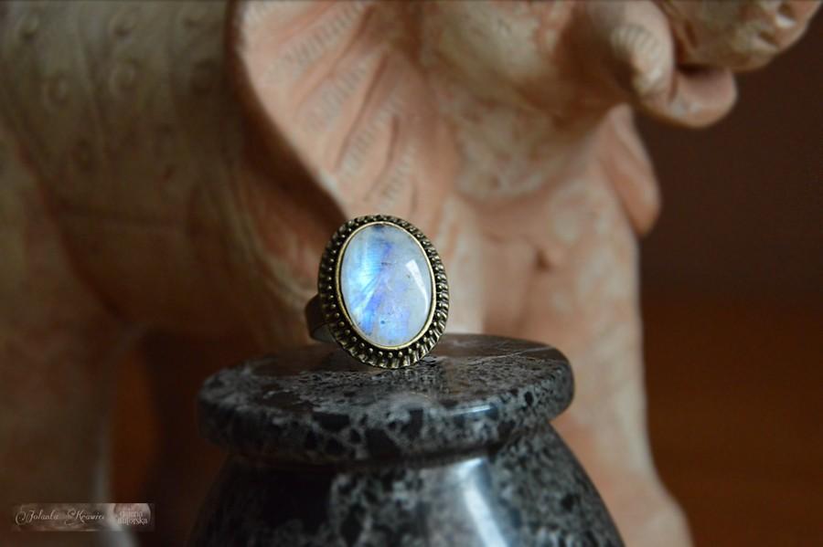Kamień księżycowy  Pierścionek Kolekcja vintage