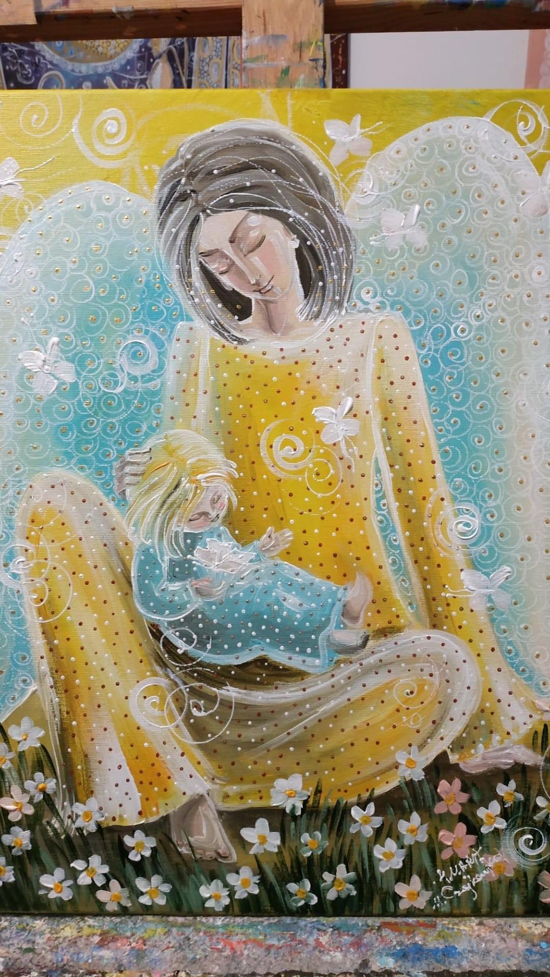 Jest na świecie piękna istota, u której jesteśmy wiecznymi dłużnikami - matka (Giclee)