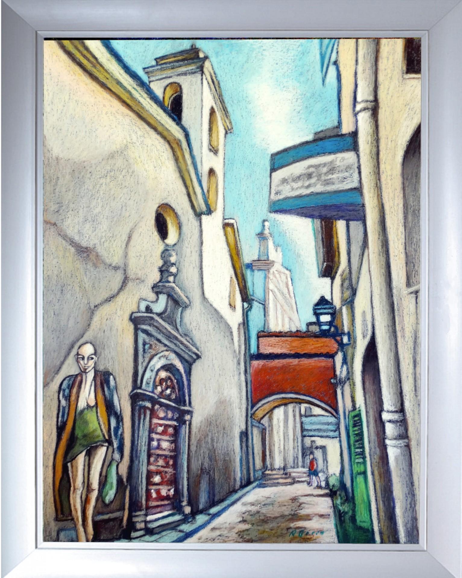Uliczka w miasteczku Antibes Francja