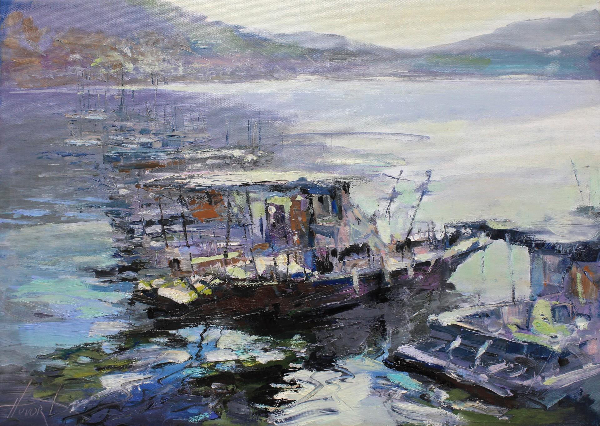 Jachty w zatoce