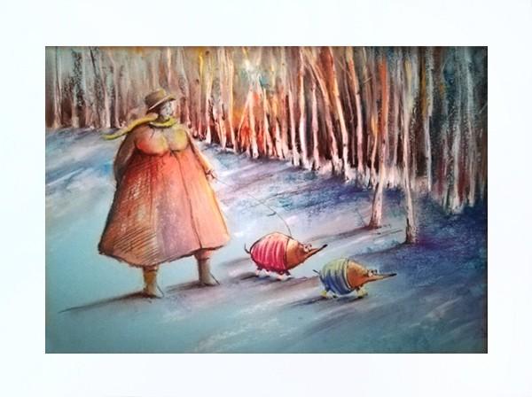 Zimowe kreacje   - OPRAWIONY